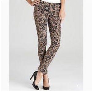Paige NWT Verdugo Ultra Skinny Floral Print Jeans